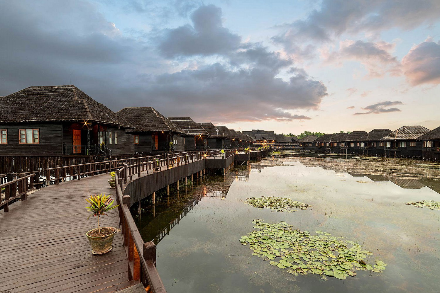 Hotel in inle lake Myanmar
